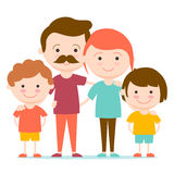 Happy family together. Royalty Free Stock Photo