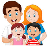 Happy family together on white background Stock Image