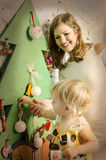 Happy family together on winter holidays Stock Images
