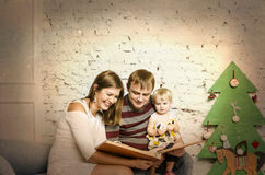 Happy family together on winter holidays Royalty Free Stock Photo
