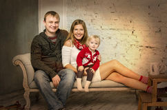 Happy family together on winter holidays Royalty Free Stock Photos