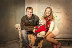 Happy family together on winter holidays Stock Photo