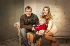 Happy family together on winter holidays Royalty Free Stock Image