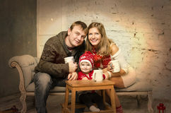 Happy family together on winter holidays Royalty Free Stock Photography