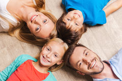Happy family. Royalty Free Stock Photography
