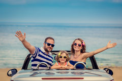 Happy family travel by car Royalty Free Stock Photos