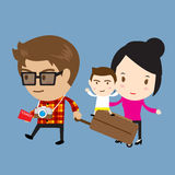 Happy family traveling Stock Image