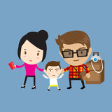 Happy family traveling Royalty Free Stock Images