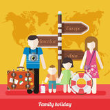 Happy Family Trip Traveling Holiday Stock Photography