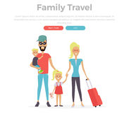 Happy Family Trip Traveling Royalty Free Stock Images