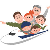 A happy family trip. A vector illustration of the family trip by train Royalty Free Stock Image