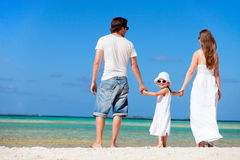 Happy family on tropical vacation Royalty Free Stock Photos