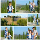 Happy family in Tuscan Stock Photos