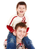 Happy family with two boy. Stock Photography