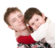 Happy family with two boy. Royalty Free Stock Photography