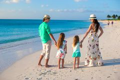 Happy family with two kids on summer vacation Royalty Free Stock Images