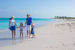 Happy family with two kids on summer vacation Royalty Free Stock Photography