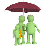 Happy family with umbrella Stock Photo
