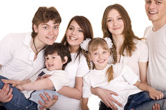 Happy family upbringing children. Royalty Free Stock Photo