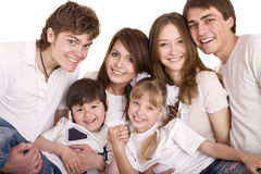Happy family upbringing children. Stock Photos