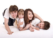 Happy family upbringing children. Royalty Free Stock Photography