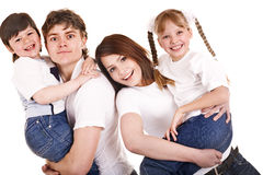Happy family upbringing children. Stock Image