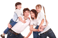 Happy family upbringing children. Stock Photography