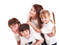Happy family upbringing children. Stock Images