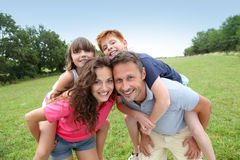 Happy family vacation Stock Images