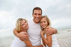 Happy family vacation Stock Photos