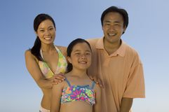 Happy Family On Vacation Royalty Free Stock Photos