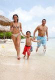 Happy family on vacation Royalty Free Stock Image