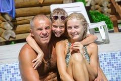 Happy family on vacation Royalty Free Stock Photos