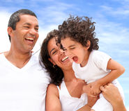 Happy family on vacations Royalty Free Stock Photography