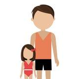 Happy family vacations holiday. Vector illustration design Royalty Free Stock Photo