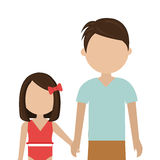 Happy family vacations holiday. Vector illustration design Royalty Free Stock Photography