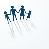 Happy family values. To illustrate a family concept, father, mother and children Stock Photo