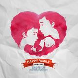 Happy family vector logo design template. Royalty Free Stock Photos