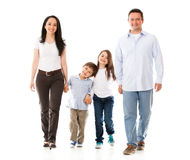 Happy family walking Stock Photography