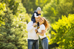 happy family walking in Park Royalty Free Stock Photography