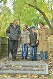 Happy Family walking Royalty Free Stock Photos