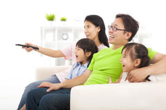 Free Happy Family Watching Tv Royalty Free Stock Photography - 33272407