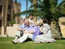 Happy family went Royalty Free Stock Photos