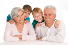 Happy family on a white Stock Image