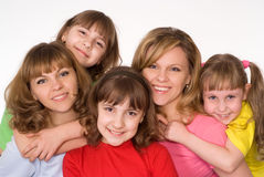 Happy family on white Stock Photography