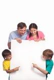 Happy family on white Royalty Free Stock Photos