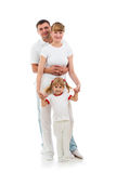 Happy family on white background Royalty Free Stock Image