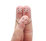 A happy family on a white background Royalty Free Stock Image