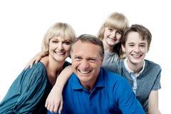 Happy family on white background Stock Photo