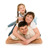 Happy family on white Royalty Free Stock Images